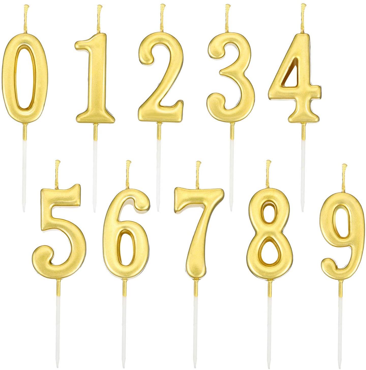 Velas de Números de Cumpleaños